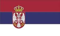 Flagge von Serbien
