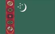 Flagge von Turkmenistan
