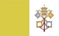 Flagge von Vatikanstadt
