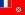 Flagge zur Ländervorwahl von Wallis und Futuna